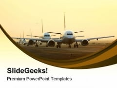 Airport Rush Travel PowerPoint Templates And PowerPoint Backgrounds 0511