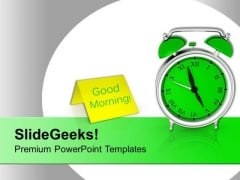 Alarm Clock For Time Management PowerPoint Templates Ppt Backgrounds For Slides 0413
