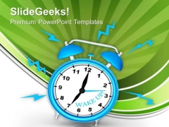 Alarm Clock To Show Warning PowerPoint Templates Ppt Backgrounds For Slides 0313