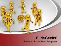 All Ideas Revolve Around Brain PowerPoint Templates Ppt Backgrounds For Slides 0613