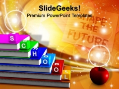 Alphabet Blocks School Education PowerPoint Templates And PowerPoint Themes 1012