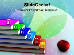 Alphabet Blocks School PowerPoint Templates And PowerPoint Themes 1012