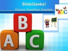Alphabhetic Education PowerPoint Templates And PowerPoint Themes 0512