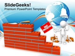 Always Be Careful On Underconstruction Site PowerPoint Templates Ppt Backgrounds For Slides 0613