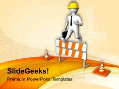 Always Be Carefull On Construction Site PowerPoint Templates Ppt Backgrounds For Slides 0613