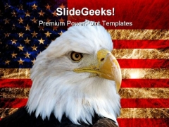 America Flag And Eagle Americana PowerPoint Backgrounds And Templates 1210
