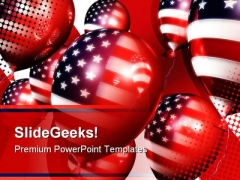 American Balloons Festival PowerPoint Template 1010