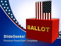 Government powerpoint templates slides and graphics american ballot box government powerpoint templates and powerpoint backgrounds 0411 toneelgroepblik Gallery