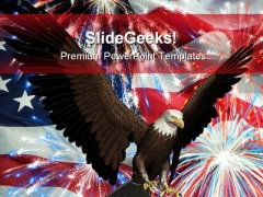 American Eagle Animals PowerPoint Template 0910