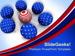 American Flag In Spheres Business Concept PowerPoint Templates Ppt Backgrounds For Slides 0513