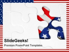 American Flag Jigsaw Shapes PowerPoint Themes And PowerPoint Slides 0411