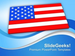 American Flag Symbol Of Pride And Freedom PowerPoint Templates Ppt Backgrounds For Slides 0813