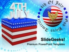 American Independence Day 4th July PowerPoint Templates And PowerPoint Themes 0612