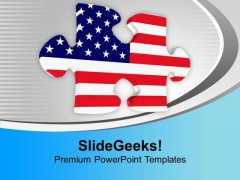 American Jigsaw Puzzle PowerPoint Templates Ppt Backgrounds For Slides 0113