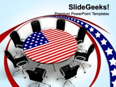 American Round Table Meeting Business PowerPoint Templates And PowerPoint Themes 0612