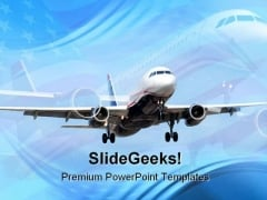 Americana Airplane Transportation PowerPoint Themes And PowerPoint Slides 0511
