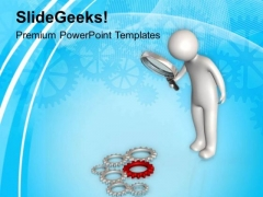 Analyzing Gear Mechanism PowerPoint Templates Ppt Backgrounds For Slides 0613
