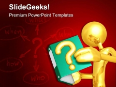 Answers Book Business PowerPoint Templates And PowerPoint Backgrounds 0711