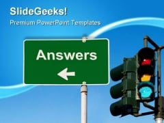 Answers Sign Business PowerPoint Templates And PowerPoint Backgrounds 0411