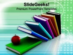 Apple In Books Education PowerPoint Templates And PowerPoint Themes 0812