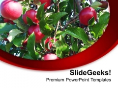 Apples Are Good For Health PowerPoint Templates Ppt Backgrounds For Slides 0613