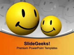 Aqua Emoticons With Smileys PowerPoint Templates And PowerPoint Themes 1012