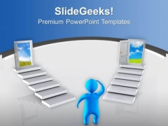 Are You Confused To Choose The Best Option PowerPoint Templates Ppt Backgrounds For Slides 0713