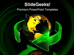 Around World Global PowerPoint Themes And PowerPoint Slides 0411