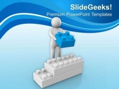 Arranging The Cubes In Order Business Concept PowerPoint Templates Ppt Backgrounds For Slides 0613