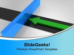 Arrow And Breaking Wall Target Aim PowerPoint Templates Ppt Backgrounds For Slides 0113