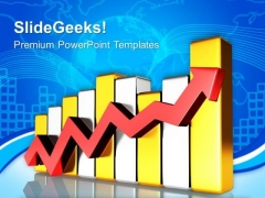 Arrow Bar Graph Business PowerPoint Templates And PowerPoint Themes 0612