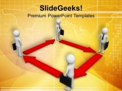 Arrow Directing Business Men PowerPoint Templates Ppt Backgrounds For Slides 0713