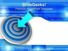 Arrow Hits Target Achieved Business PowerPoint Templates Ppt Backgrounds For Slides 0213