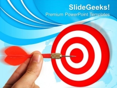 Arrow Hitting Board Target Business PowerPoint Templates Ppt Backgrounds For Slides 0113