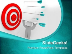 Arrow In Target Leadership PowerPoint Themes And PowerPoint Slides 0711