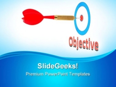 Arrow On Objective Success PowerPoint Themes And PowerPoint Slides 0811