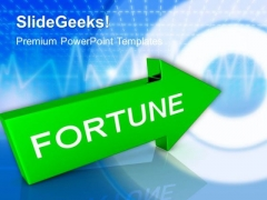 Arrow With Fortune PowerPoint Templates And PowerPoint Themes 1012
