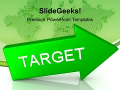 Arrow With Target Global Business PowerPoint Templates And PowerPoint Themes 1112
