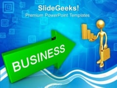 Arrow With Word Business PowerPoint Templates And PowerPoint Themes 0912