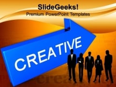 Arrow With Word Creative Business PowerPoint Templates And PowerPoint Themes 0812
