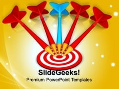 Arrows On Dart Targets PowerPoint Templates And PowerPoint Themes 0712