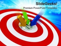 Arrows On Dollars Target Finance PowerPoint Themes And PowerPoint Slides 0511