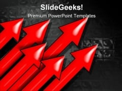 Arrows Symbol PowerPoint Template 0810