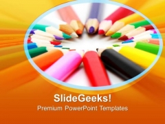 Artistic Pencils Education PowerPoint Templates Ppt Backgrounds For Slides 0213