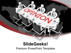 Ask For Opinion Of Team Members PowerPoint Templates Ppt Backgrounds For Slides 0613