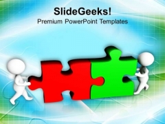 Assembling Of Puzzle Pieces Business Solution PowerPoint Templates Ppt Backgrounds For Slides 0813