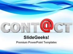 At Contact Communication PowerPoint Themes And PowerPoint Slides 0211