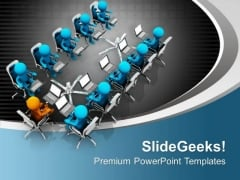 Attain Meeting With Business Head PowerPoint Templates Ppt Backgrounds For Slides 0713