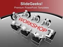 Attain Workshops Regularly PowerPoint Templates Ppt Backgrounds For Slides 0613