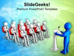 Attend The Conference For Business Growth PowerPoint Templates Ppt Backgrounds For Slides 0713